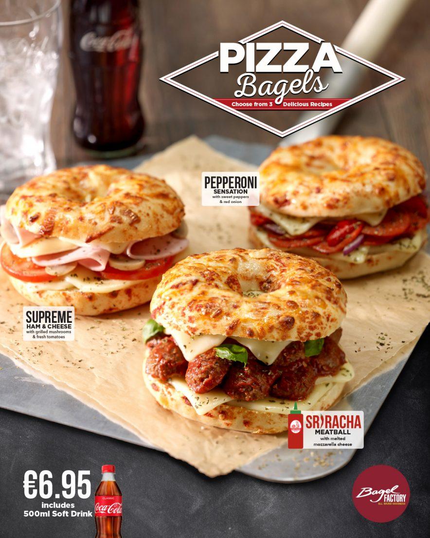 Bagel Factory - Pizza Bagel Sriracha Meatball